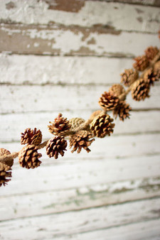 (2 Pack) Pinecone Garland