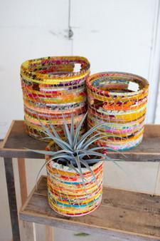 Three Set Recycled Kantha Hampers