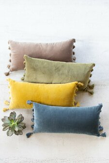 Cobblestone Velvet Lumbar Pillow