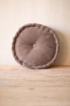 Cobblestone Round Velvet Floor Cushion