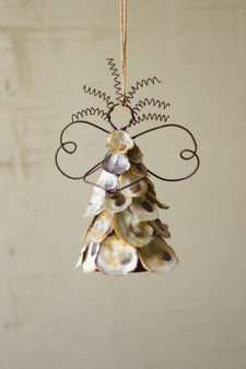 (6 Pack) Oyster Shell Angel Ornament