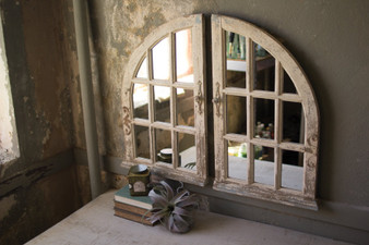 (2 Set) Arched Window Mirrors