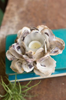 (2 Pack) - Oyster Shell Candle Holder