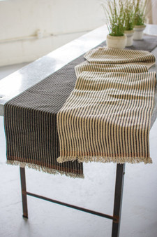 (2 Set) Cotton And Jute Table Runners - One Each