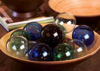 """(6 Pack) Amber 4"""" Round Glass Ball Ornament"""