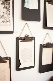 (6 Pack) Black Clip Board Photo Holder