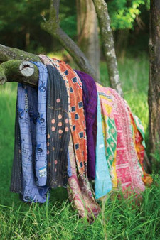 (6 Pack) Cotton Kantha Throw-Assorted Sizes And Patterns