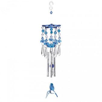 Blue Hummingbird Acrylic And Metal Windchimes (10018837)