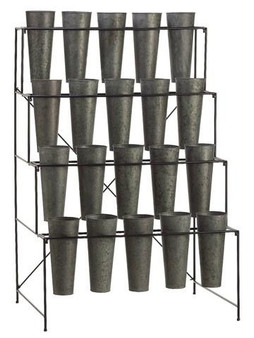 "51.5""H X 26.25""W X 35""L Bucket Etagere With 20 Buckets Bronze AM7025-BZ"