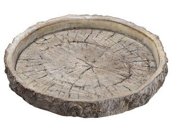 "1.25""H X 9""D Cement Plate Brown 3 Pieces ACE792-BR"
