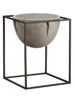 "16.75"" Cement Planter Gray Rust ACE503-GY/RU"
