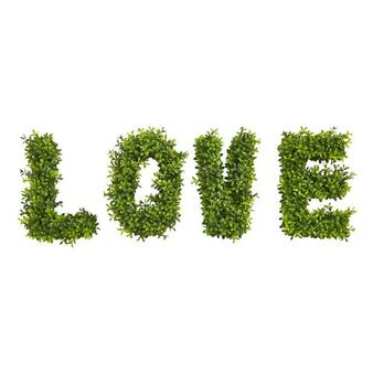 """""""Love"""" Boxwood Artificial Wall Decoration (Indoor/Outdoor) (8333)"""