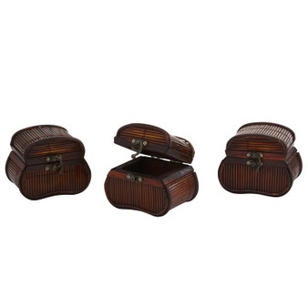 Bamboo Chests (Set Of 3) (0544-S3)