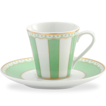 3 Ounces White Ad Cup And Saucer - Pack of 2 - (M252-431T)