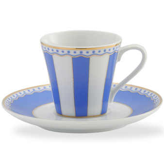 3 Ounces White Ad Cup And Saucer - Pack of 2 - (M251-431T)