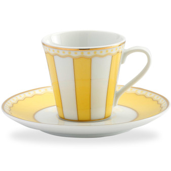 3 Ounces White Ad Cup And Saucer - Pack of 2 - (M250-431T)