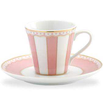 3 Ounces White Ad Cup And Saucer - Pack of 2 - (M249-431T)