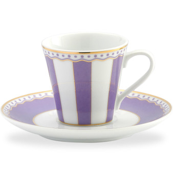 3 Ounces White Ad Cup And Saucer - Pack of 2 - (M248-431T)