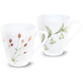 10 Ounces White Mugs Set of 2 (1654-P5355L)