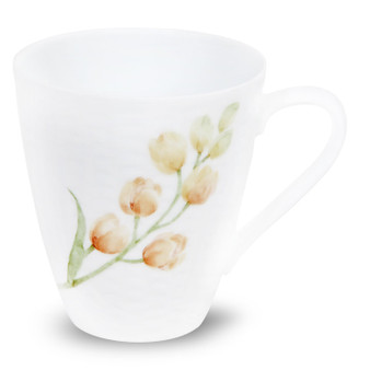 10 Ounces White Red Mug - Pack of 2 - (1654-5355C1)