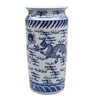 Blue & White Dragon Umbrella Stand (1168)