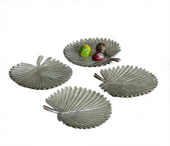 Aluminum Cabbage Leaf Coaster 4 Set (Bundle Of 4) (N927)