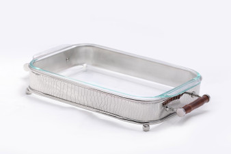 Nickel Crock And Bamboo Rectangle Server (Bundle Of 2) (ST412)