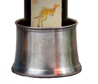 Silver Antique Brass Crest Coaster (Bundle Of 6) (R246)