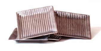 Nickel Aluminum Set 4 Lined Coasters (Bundle Of 4) (N932)