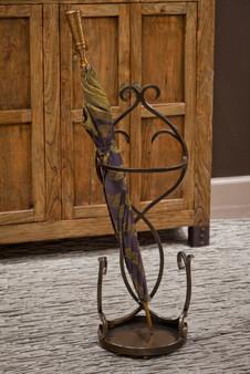 Bronze Iron Flare Scroll Umbrella Stand (ME2274)