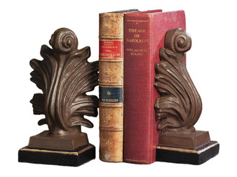 Acanthus Bookends Iron Gold & Bronze ( Pair ) (HC337)