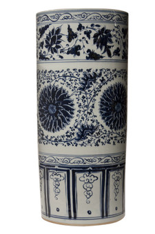 Blue & White Umbrella Porcelain Stand (D0260)