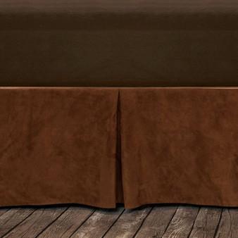 Suede Queen Copper Bed Skirt (BS1004-QN-CP)