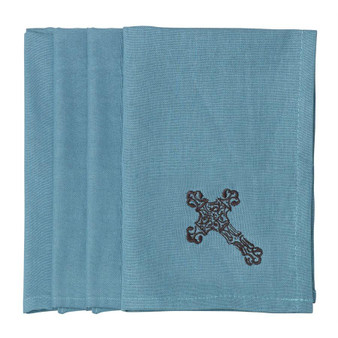 4 Piece Cross Napkin Set (KN3182)
