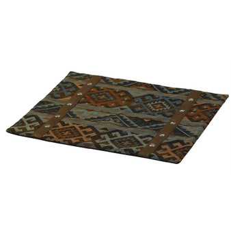 Del Rio Placemats - Set Of 4 - Blue/Brown (WS4006PM)