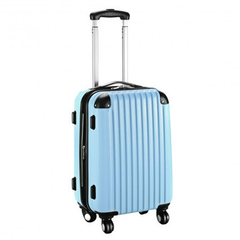 """Globalway 20"""" Abs Carry On Luggage Travel Bag Trolley Suitcase 8 Color-Light Blue (BG49830LTBL)"""