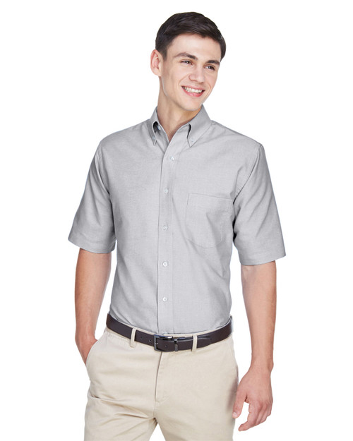 UltraClub Men's Classic Wrinkle-Resistant Short-Sleeve Oxford