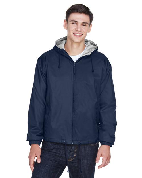 UltraClub Adult Fleece-Lined Hooded Jacket