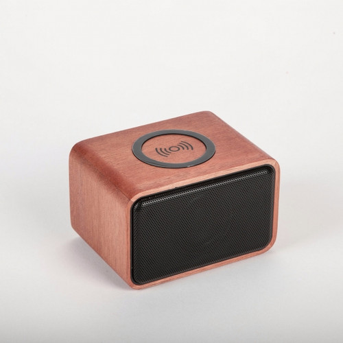 Mahogany Wood-Crafted Bluetooth Speaker & Wireless Charger