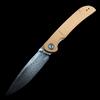 "CIVIVI Imperium Liner Lock Knife Natural Micarta (3.5"" Damascus)"