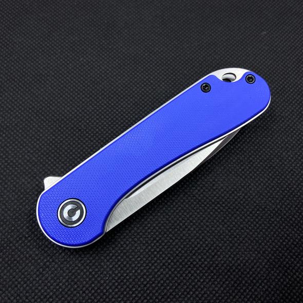 "Civivi Elementum Ben Blue G10 2.9"" D2 Satin Drop Point Blade"