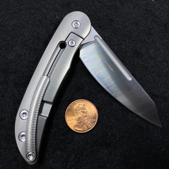 Twosun Micro M390 Carbon Fiber Titanium Flipper Pocket Folder Knife TS158-CF