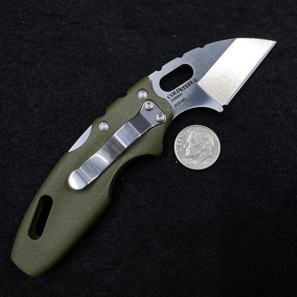 """Cold Steel Mini Tuff Lite Tri-Ad Lock Knife OD Green (2"""" Satin) 20MTGD"""