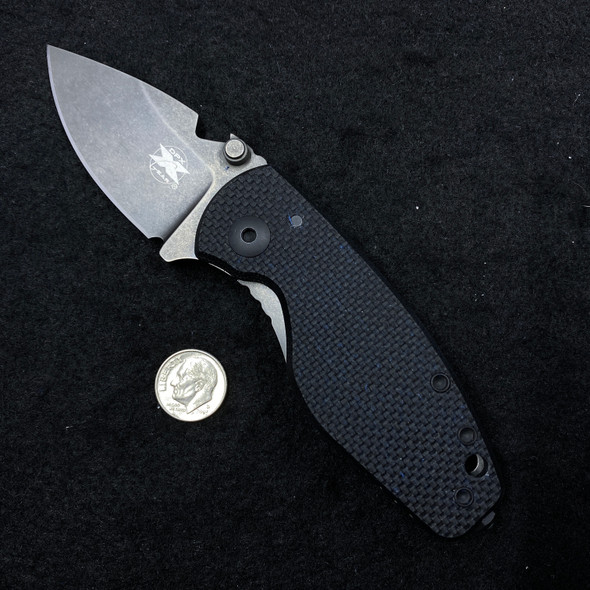 "DPx HEAT/F Frame Lock Knife Black G-10 Titanium (2.375"" Gray Niolox)"