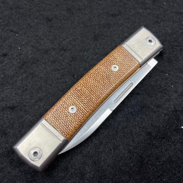"LionSteel BestMan BM2 Traditional Slip Joint Knife Natural Micarta (2.88"" Satin)"