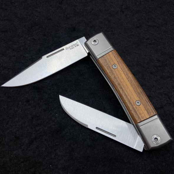 LionSteel Best Man BM13 Slipjoint Santos Wood Dual Blade M390