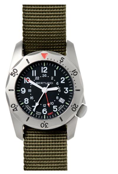 Bertucci A-2TR Vintage GMT Mens Field Watch 12118