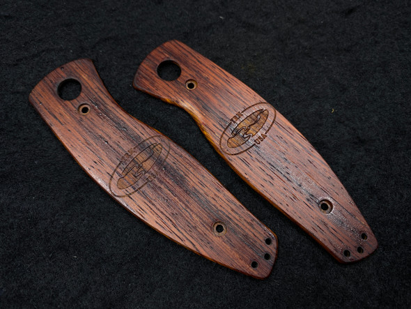 Custom Laser Engraved TRM logo flamed Cocobolo Scales For TRM Neutron