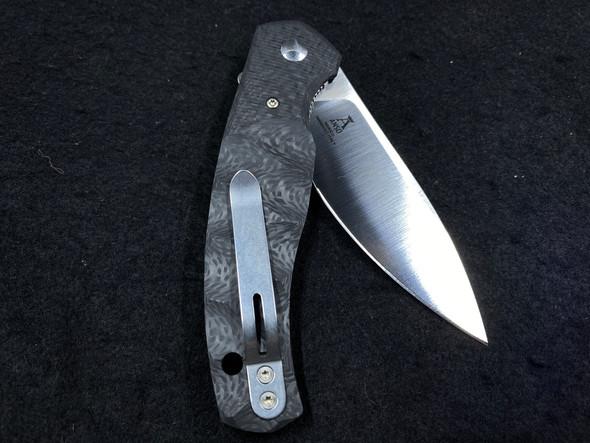 "Fox CF Jens Anso Ziggy Flipper Knife 3.25"" N690 Satin Plain Blade"