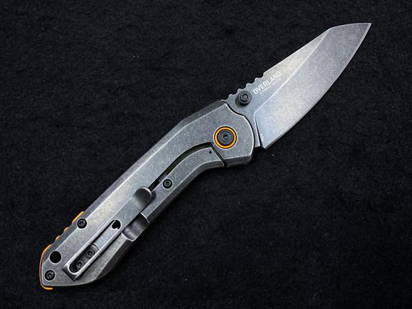 """CRKT Schwarz Overland Frame Lock Knife OD Green G10 (2.99"""" Stonewash) 6280"""